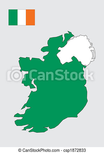 Map of Ireland - csp1872833