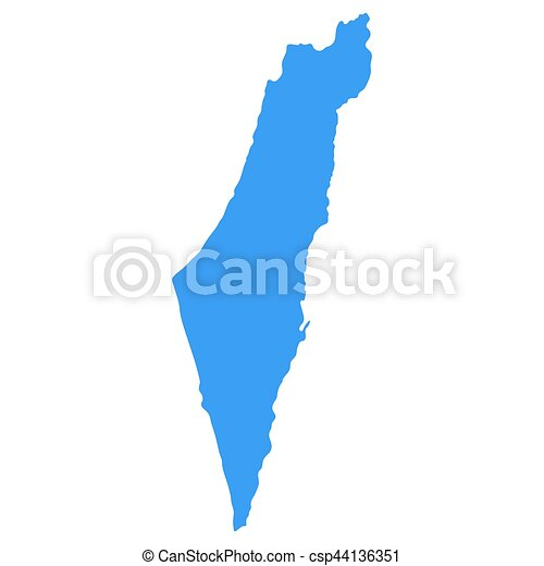Map Of Israel   Csp44136351
