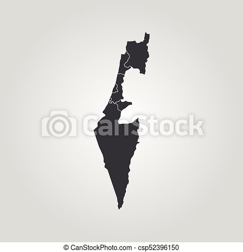 Perfect Map Of Israel   Csp52396150