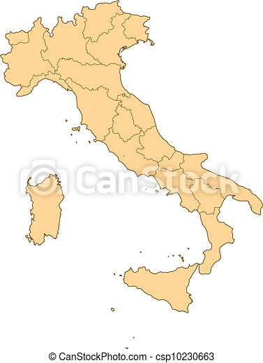 Map of Italy - csp10230663