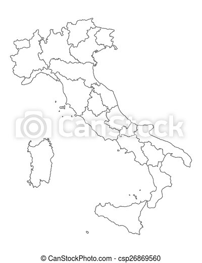 Map of Italy - csp26869560
