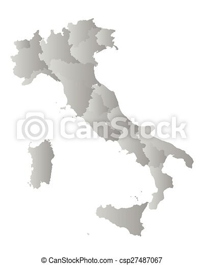 Map of Italy - csp27487067