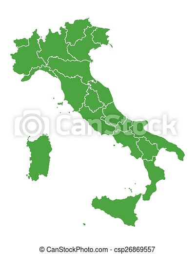 Map of Italy - csp26869557