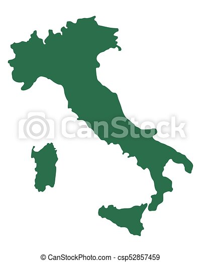 Map of Italy - csp52857459