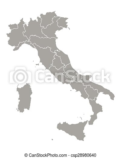 Map of Italy - csp28980640