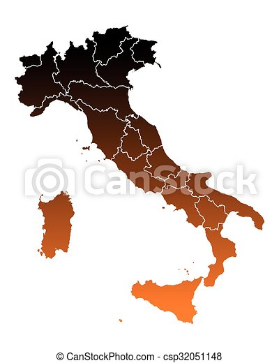 Map of Italy - csp32051148