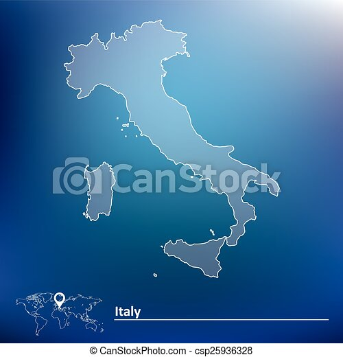 Map of Italy - csp25936328
