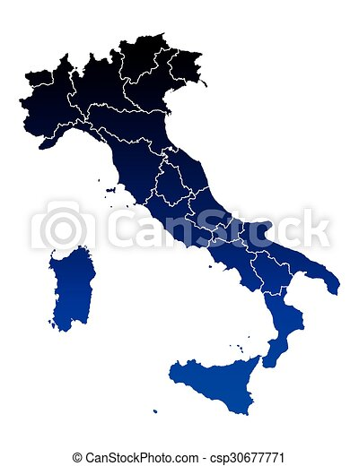 Map of Italy - csp30677771