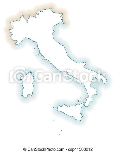 Map Of Italy Regions Blank Map Of Italy Borders