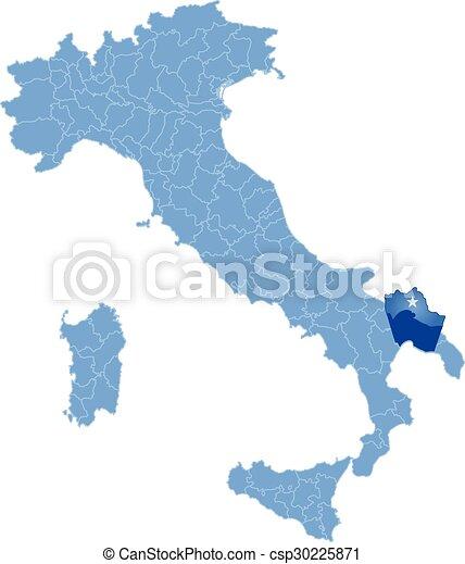 Map of italy taranto Map of italy where taranto province