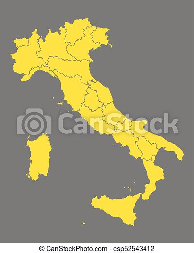 Map of Italy - csp52543412