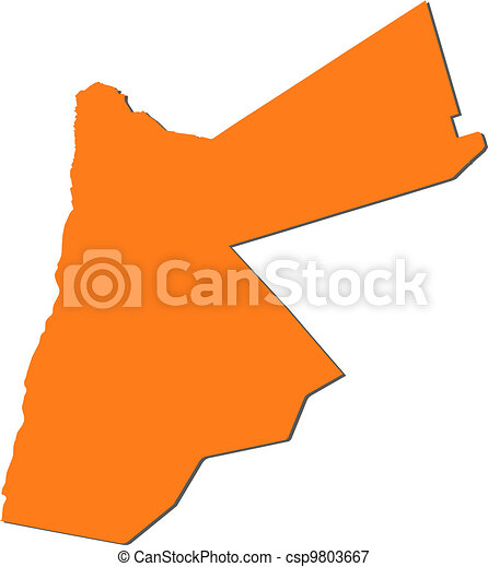 Jordan Political Map.Map Of Jordan Political Map Of Jordan With The Several Governorates