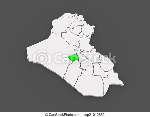 Map of karbala iraq 3d stock illustrations Search Clipart