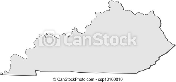 Map of kentucky (united states) Map of kentucky, a state of united ...