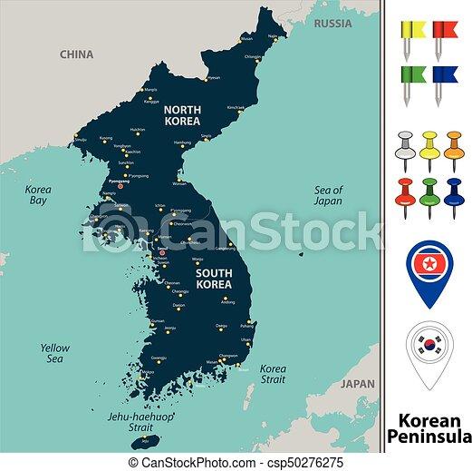 Map of Korean Peninsula