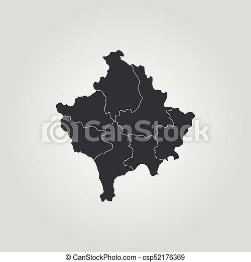 Map of kosovo vector illustration world map map of kosovo csp52176369 gumiabroncs Choice Image