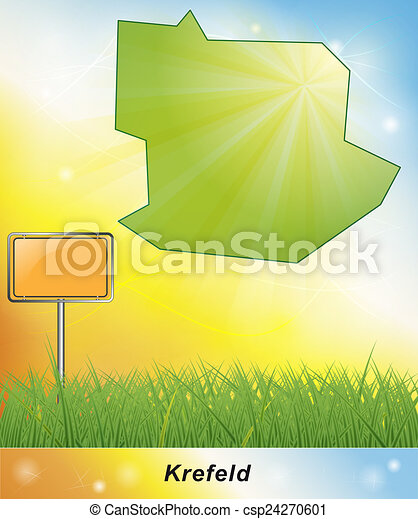 Map of krefeld stock illustration Search Clipart Drawings and