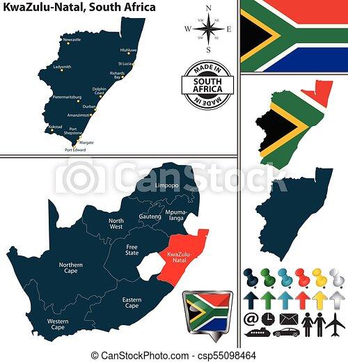 Natal South Africa Map.Map Of Kwazulu Natal South Africa Vector Map Of Kwazulu Natal