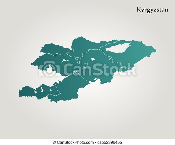 Map of kyrgyzstan vector illustration world map clipart vector map of kyrgyzstan csp52396455 gumiabroncs Image collections