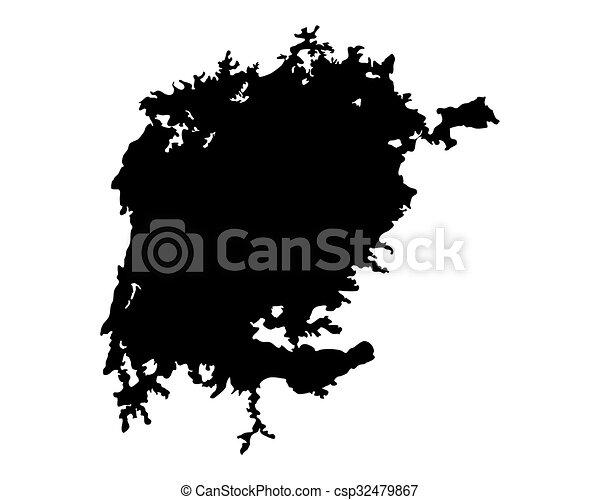 Map of Lake Victoria - csp32479867