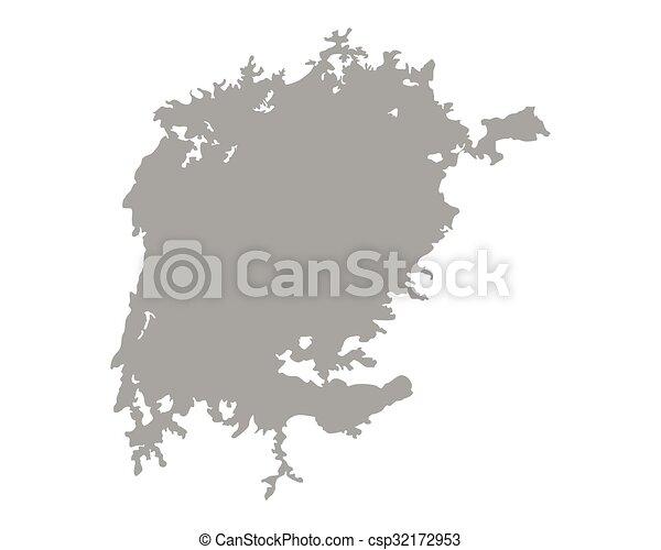 Map of Lake Victoria - csp32172953