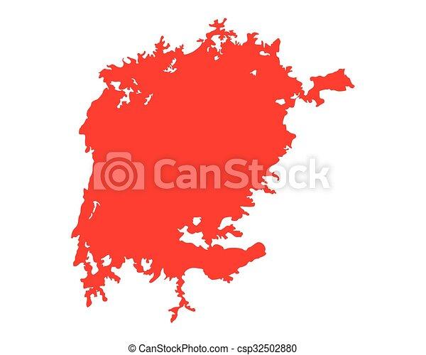 Map of Lake Victoria - csp32502880