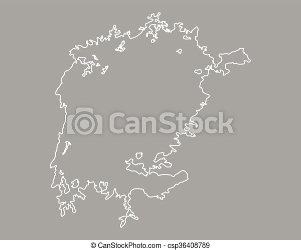 Map of Lake Victoria - csp36408789