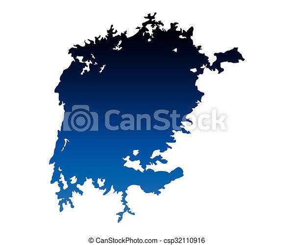 Map of Lake Victoria - csp32110916