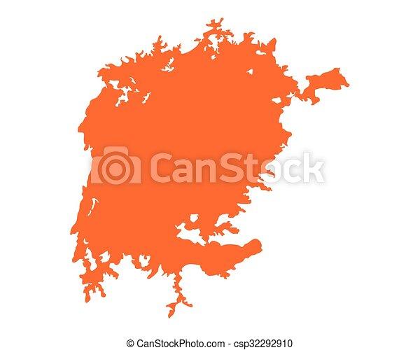 Map of Lake Victoria - csp32292910