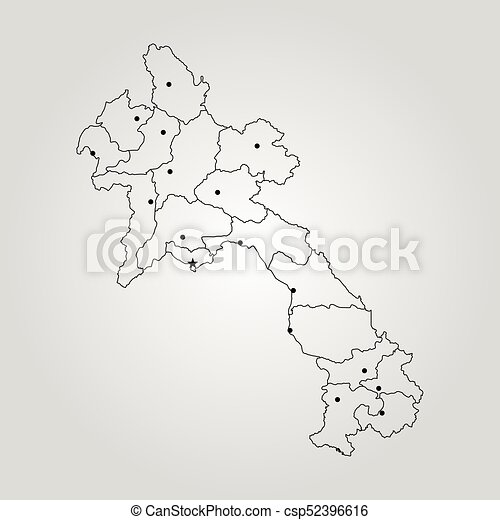 Laos On A World Map.Map Of Laos Vector Illustration World Map