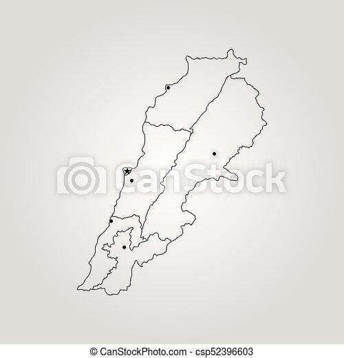 map of lebanon csp52396603