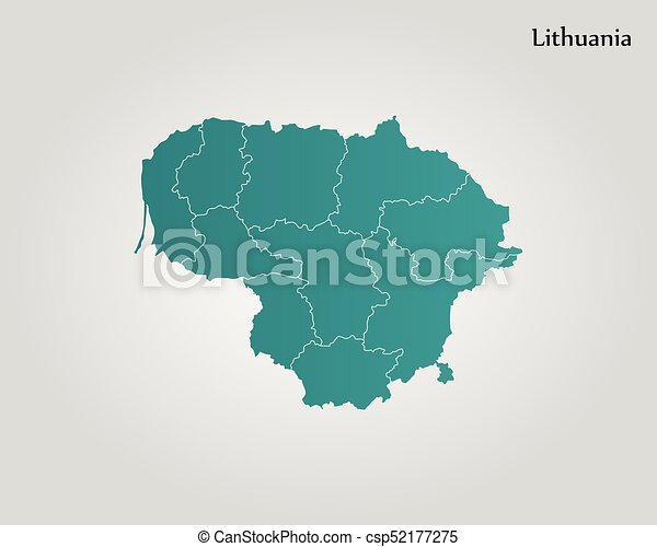 Map of lithuania vector illustration world map map of lithuania csp52177275 gumiabroncs Gallery