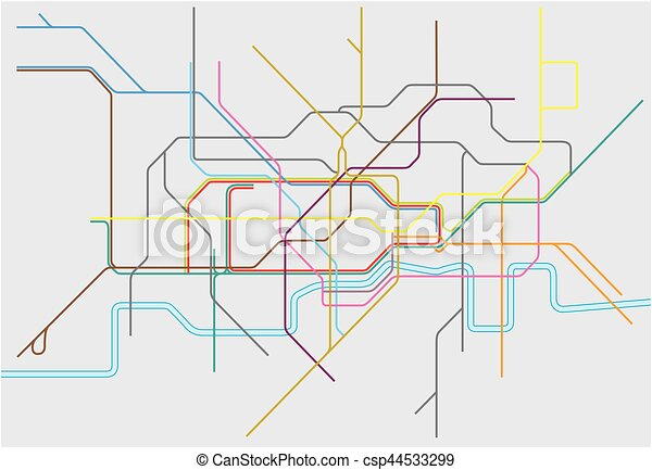 Vector map of london undergoundovergrounddlr and eps vectors