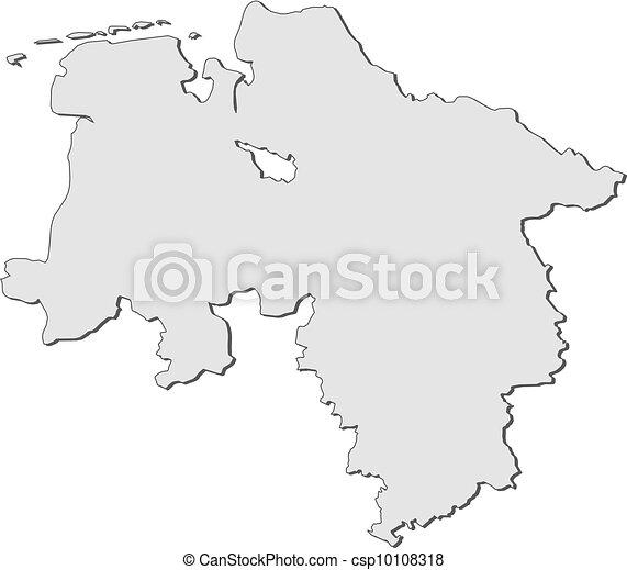 Lower Saxony Germany Map.Map Of Lower Saxony Germany Map Of The State Lower Saxony In Germany