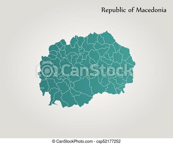 Map Of Macedonia Vector Illustration World Map