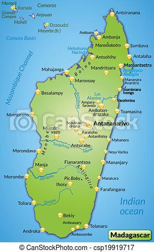 madagaskar karta Map of madagascar as an overview map in green. madagaskar karta