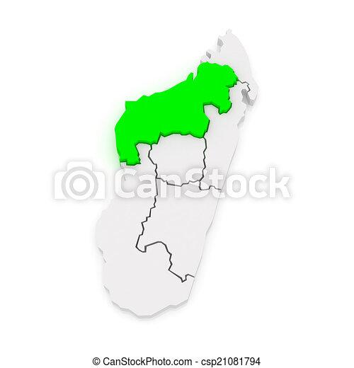 Map of mahajanga madagascar 3d stock illustration Search Vector