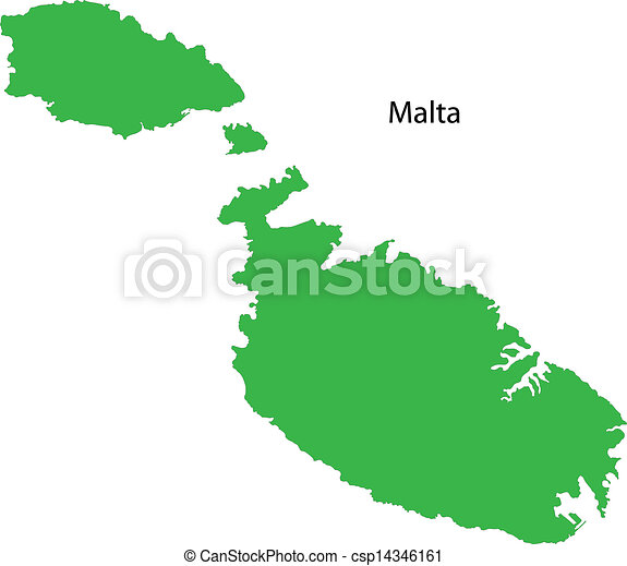 Green map of malta clip art vector Search Drawings and Graphics