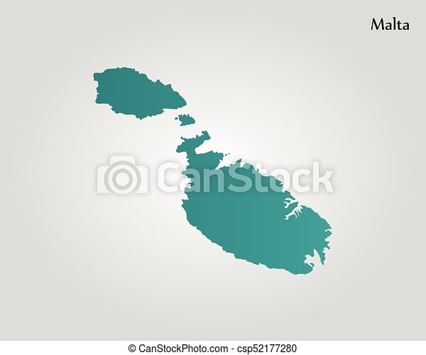 Map of malta. vector illustration. world map.