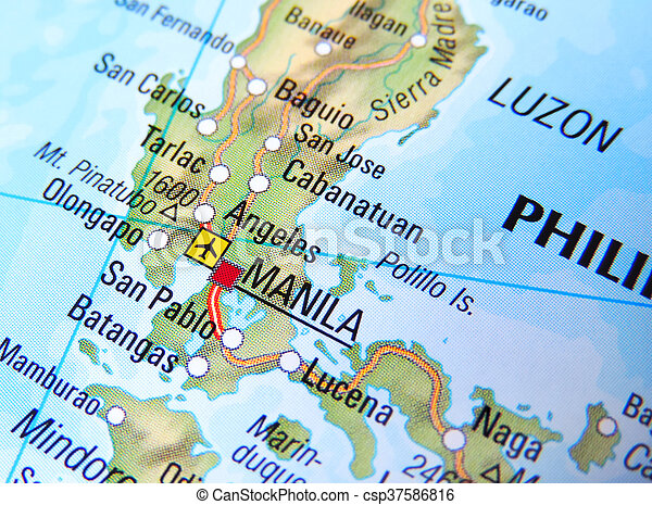 Map of manila philippines stock photography Search Pictures and