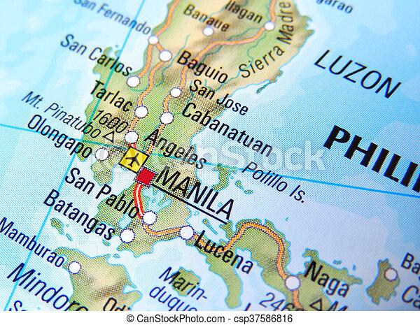Map of manila, philippines.