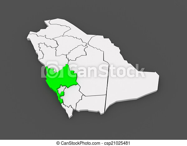 Map of mecca saudi arabia 3d stock illustration Search EPS Clip