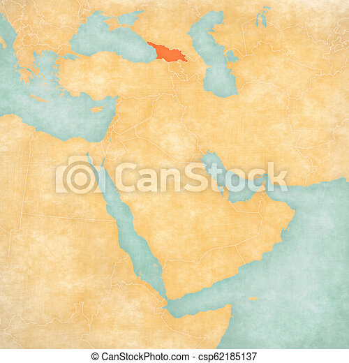 Map Of East Georgia.Map Of Middle East Georgia