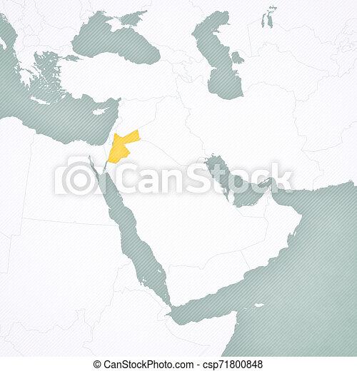 map of middle east jordan