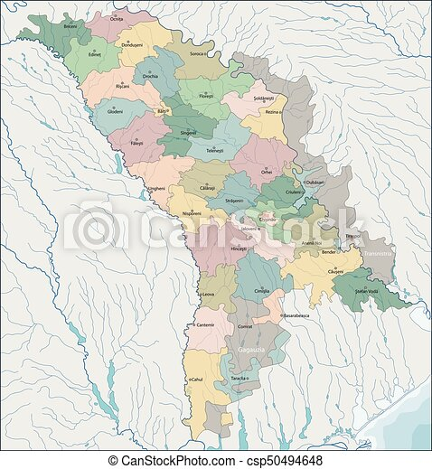 Map Of Moldova Moldova Is A Landlocked Country In Eastern Europe