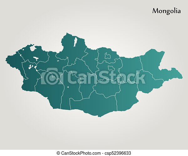 Map of mongolia vector illustration world map map of mongolia csp52396633 gumiabroncs Gallery