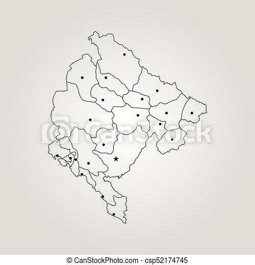 Map Of Montenegro Vector Illustration World Map