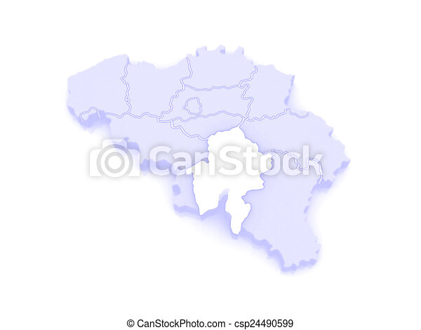 Map of namur belgium 3d stock illustration Search Vector Clipart