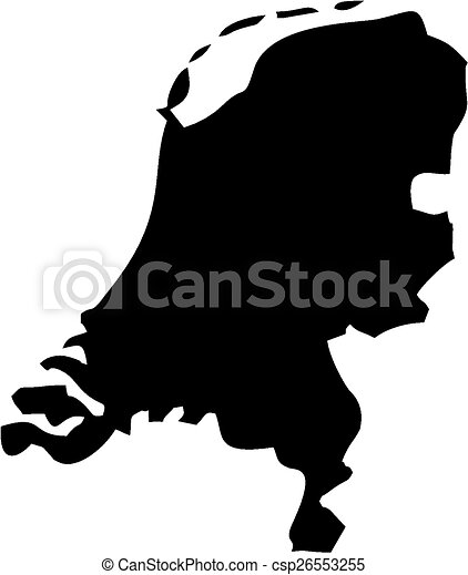 Map of netherlands Silhouette maps european country of clipart