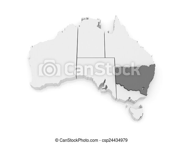 3d Map Of South Australia.Map Of New South Wales Australia